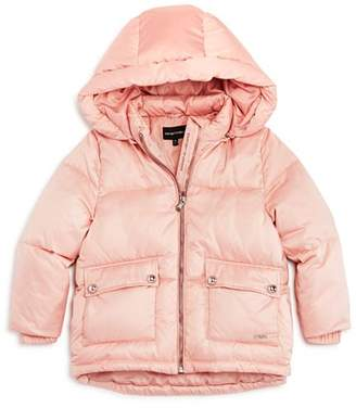 Armani Junior Girls' Puffer Jacket - Little Kid, Big Kid