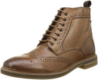 Base London Mens Hurst Tan Leather Boots 8 US