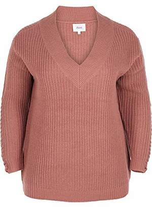 Zizzi Women's Mcama, L/s Pullover Blouse,(Size: 42/44)