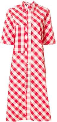 Sofie D'hoore gingham print shirt dress