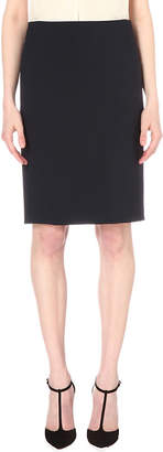 Theory Stretch-wool pencil skirt