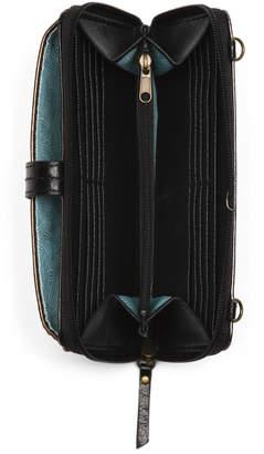 Iris Metallic Smart Phone Leather Crossbody