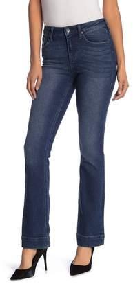 Max Studio High Rise Slim Boot Clean Hem Jeans