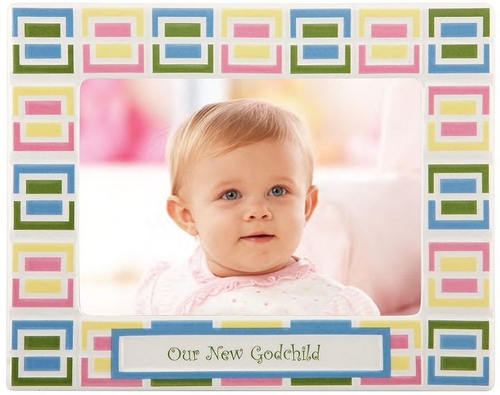 """Merry Go Round Pitter Patter """"Our New Godchild"""" 5 x 7 Frame"""