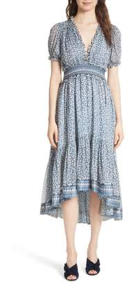 Ulla Johnson Evania Floral Silk Blend Dress