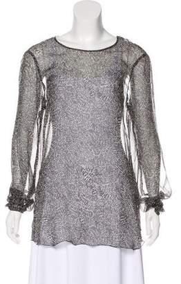 L'Agence Sheer Silk Blouse