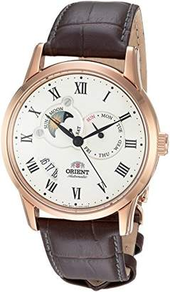 Orient Men's FET0T001W0 Sun and Moon Analog Display Japanese Automatic Brown Watch