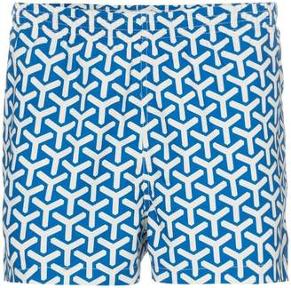 Trunks Timo blue printed drawstring swimming