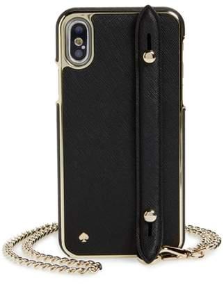 Kate Spade hand strap iPhone X crossbody case