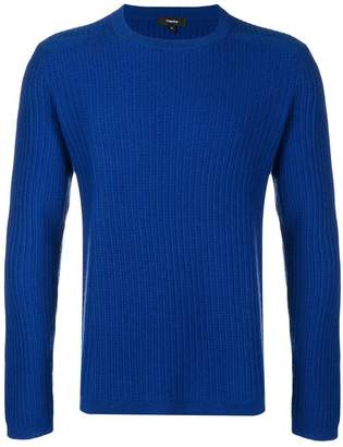 Theory ribbed crew neck sweater