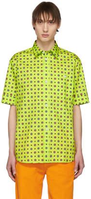 Kenzo Yellow Medallion Slim Fit Shirt