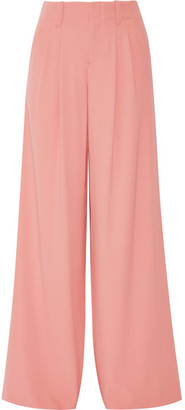 Alice + Olivia - Eloise Crepe Wide-leg Pants - Antique rose $315 thestylecure.com
