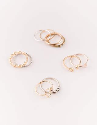 Full Tilt 10 Piece Heart Infinity & Moon Rings