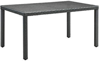 Modway Sojourn 59In Outdoor Patio Wicker Rattan Dining Table