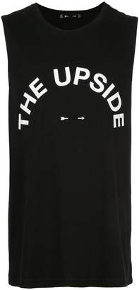 The Upside logo tank
