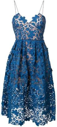 Self-Portrait Floral Azaelea lace dress