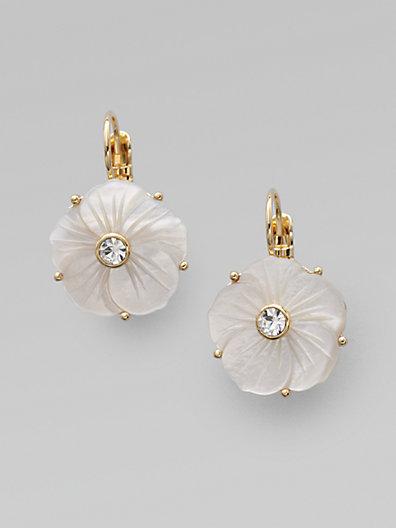 Kate Spade Mother of Pearl Flower Earrings