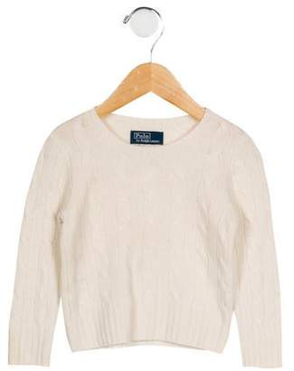 Polo Ralph Lauren Girls' Long Sleeve Cable Knit Sweater