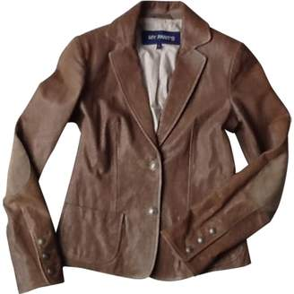 My Pants My Pant's Brown Leather Jacket for Women