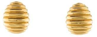 14K Scalloped Clip-On Earrings