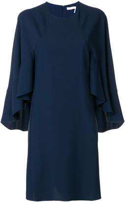 Chloé ruffle sleeved shift dress