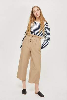 Topshop Paper Bag Button Up Trousers