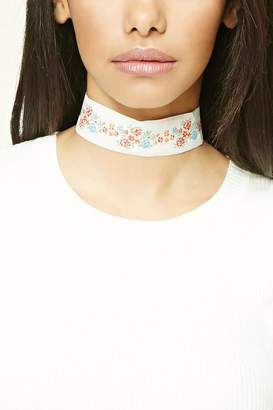 Forever 21 Floral Embroidered Choker