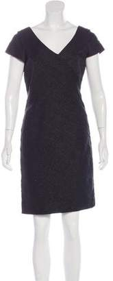 Carmen Marc Valvo Metallic Bandage Dress w/ Tags