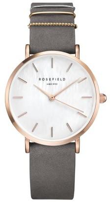 Women's Rosefield West Village Leather Strap Watch, 33Mm $109 thestylecure.com