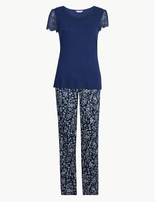Marks and Spencer Satin Short Sleeve Pyjama Set