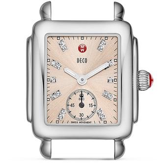 MICHELE Deco 16 Beige Diamond Dial Watch Head, 29 x 33mm - 100% Exclusive $695 thestylecure.com