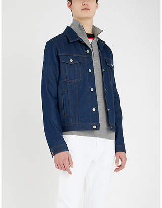 Michael Kors Zipped high-neck cotton-blend jumper