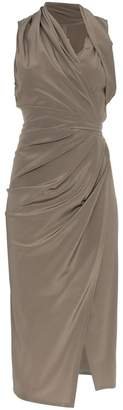Rick Owens silk limo drape dress