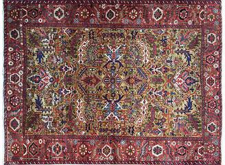 """One Kings Lane Vintage 7'5"""" x 99"""" Persian Heriz Carpet in Gold - - Eli Peer Oriental Rugs"""