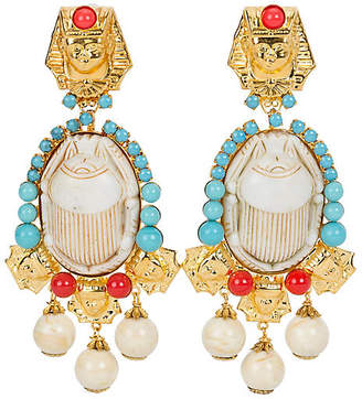 One Kings Lane Vintage Vrba Egyptian Limited Edition Earrings - Vintage Lux