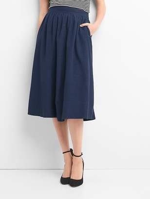 Shirred midi swing skirt $59.95 thestylecure.com