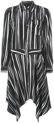 Nicole Miller striped shirt dress