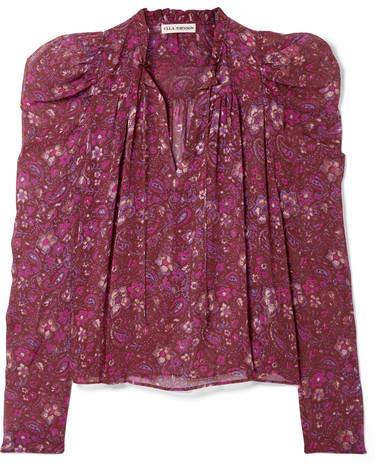 Ulla Johnson - Renly Printed Silk-chiffon Blouse - Purple