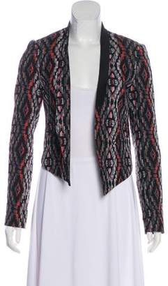 Cynthia Vincent Patterned Open Jacket