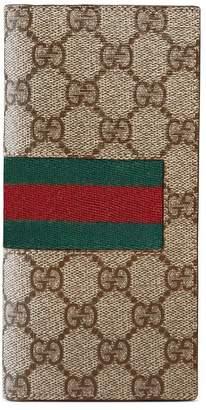 Gucci Web GG Supreme long wallet