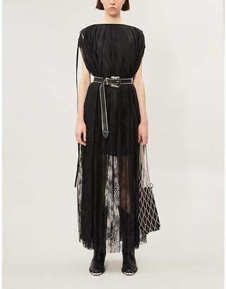 MM6 MAISON MARGIELA Loose-fit sleeveless oversized lace maxi dress