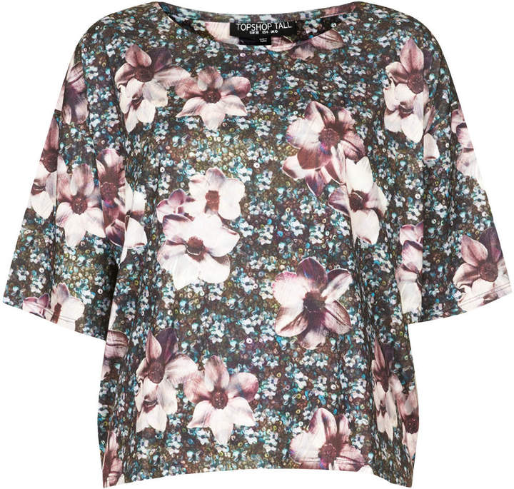 Topshop Tall photo floral tee
