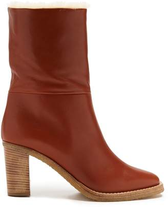 GABRIELA HEARST Helen shearling-lined leather ankle boots