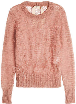 N°21 N21 Knit Pullover with Ostrich Feathers