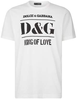 Dolce & Gabbana Cotton Slogan T-Shirt