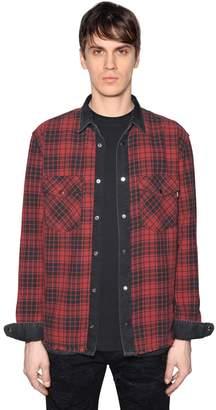 Diesel Reversible Denim & Checked Cotton Shirt