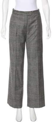 Loro Piana Wool & Cashmere Mid-Rise Pants
