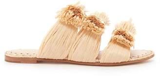 Pour La Victoire Layne Natural Raffia Flat Sandal