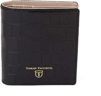 Topkapi (トプカピ) - トプカピ TOPKAPI クロコ型押し・コンパクト折り財布