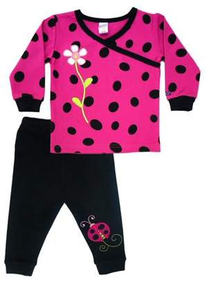 Sozo Ladybug T-Shirt & Pants, 2-piece Outfit Set (Toddler Girls)